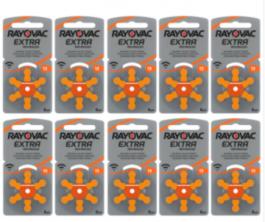 Batterijen voor hoortoestel Oranje 60 stuks