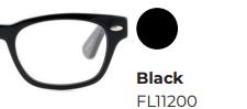 Leesbril Frank & Lucie Eyebrow Zwart +2.50